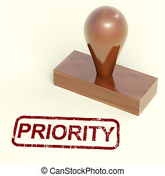 gummi, binse, briefmarke, auslieferung, dringend, shows, priorität