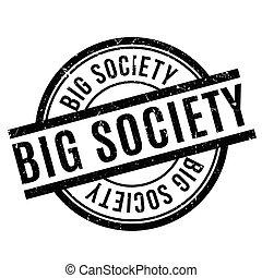 gummi, stor, samhälle, stämpel