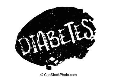 gumové razítko, cukrovka