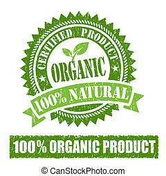 gumové razítko, produkt, organický