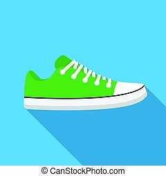 Gumshoes icon in flat style isolated on white background. Shoes symbol stock vector illustration.