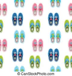 gumshoes, pattern., schoentjes, achtergrond, seamless
