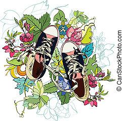 Gumshoes sketch flower