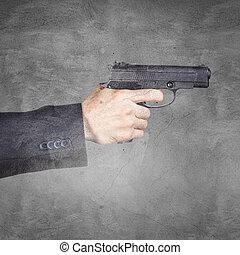 gun., 手を持つ