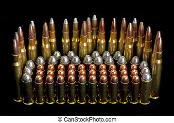 Gun ammunition bullets different sizes - Different bullet...
