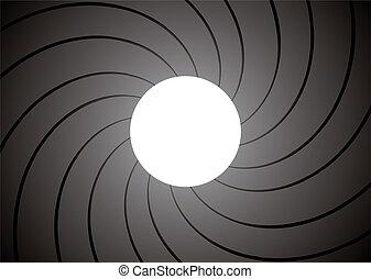 gun barrel inside