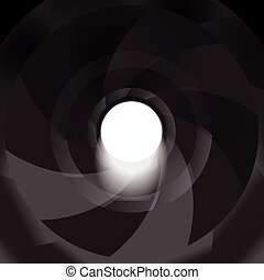 gun barrel inside vector background illustration hole