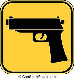 Gun button.