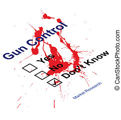 gun control questionnaire - Blood splattered Market research...