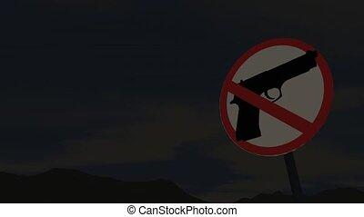 Gun control concept animation.