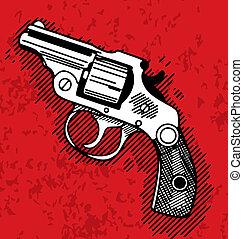 Gun - Pop art illustration of a gun.