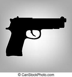 Gun flat icon