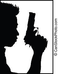 gun guy - guy with a gun