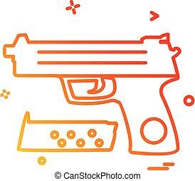 Gun icon design vector