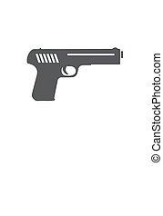 Gun icon isolated on white background