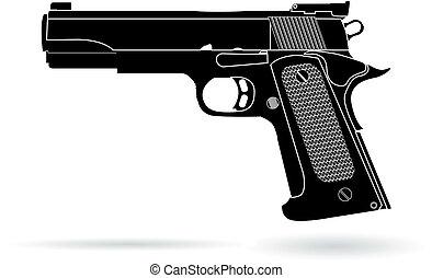 gun isolated on white vector illustration