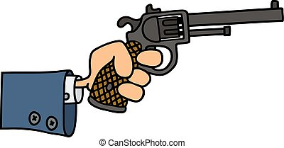 Gun in a hand
