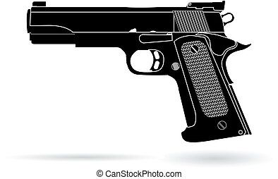 gun isolated on white vector illustration