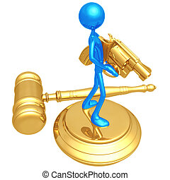 Gun Laws - 3D Concept And Presentation Figure