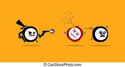 gun., les, mobile, app, tueur, apps, meurtre, autre, tir