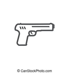 Gun Line Icon on the white background