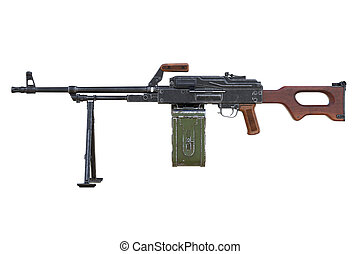 Gun machine, side view
