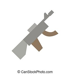 gun military force isolated icon
