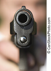 gun - Pistol in a hand