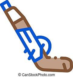 Gun Pistol Icon Vector Outline Illustration