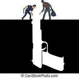 Gun police criminal crime detective