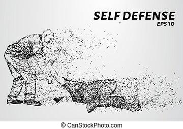 gun., puntos, vector, defensa, illustration., sí mismo,...