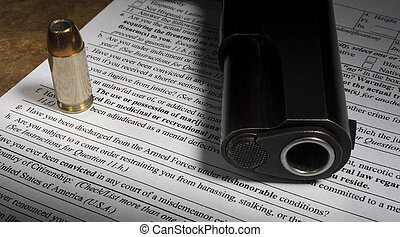 Gun purchase NICS form with dishonorable discharge line