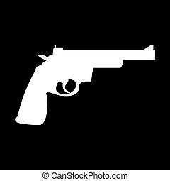 Gun revolver icon .