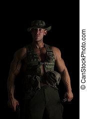 gun., súlyos, katona
