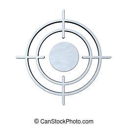 gun sight on white background - 3d illustration