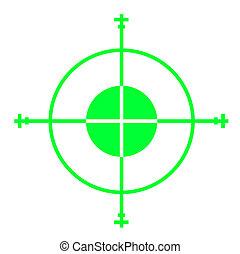 Gun sight - Green sniper gun sight cross hairs, isolated on ...