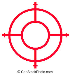 Gun sight isolated on white background with copy space.