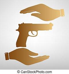 Gun sign Golden Effect.