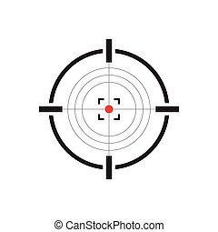 Gun target icon vector illustration isolated on white ...