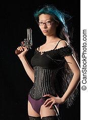 Gun toting gal