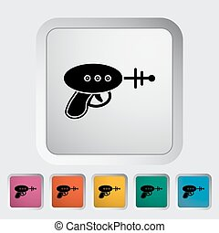 Gun toy icon. Flat vector related icon for web and mobile...