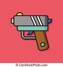 gun weapon vector icon