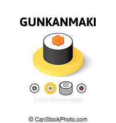 Gunkanmaki icon in different style