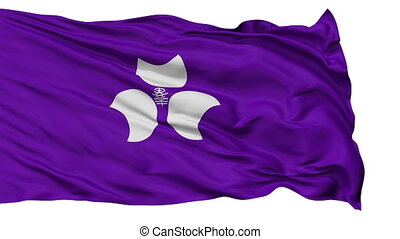 Gunma Prefecture Isolated Flag