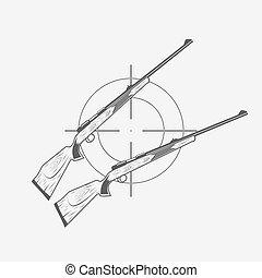 guns and target rifle