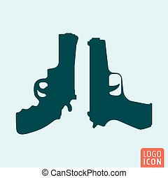 Guns icon isolated
