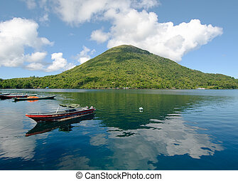 gunung, api, vulcão, banda, ilhas, indonésia