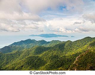 gunung, cincang, natte, vue
