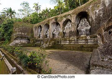 gunung, kawi, tempel, in, bali