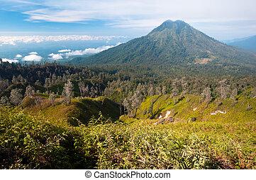 Gunung Merapi Volcano on Java Island in Indonesia
